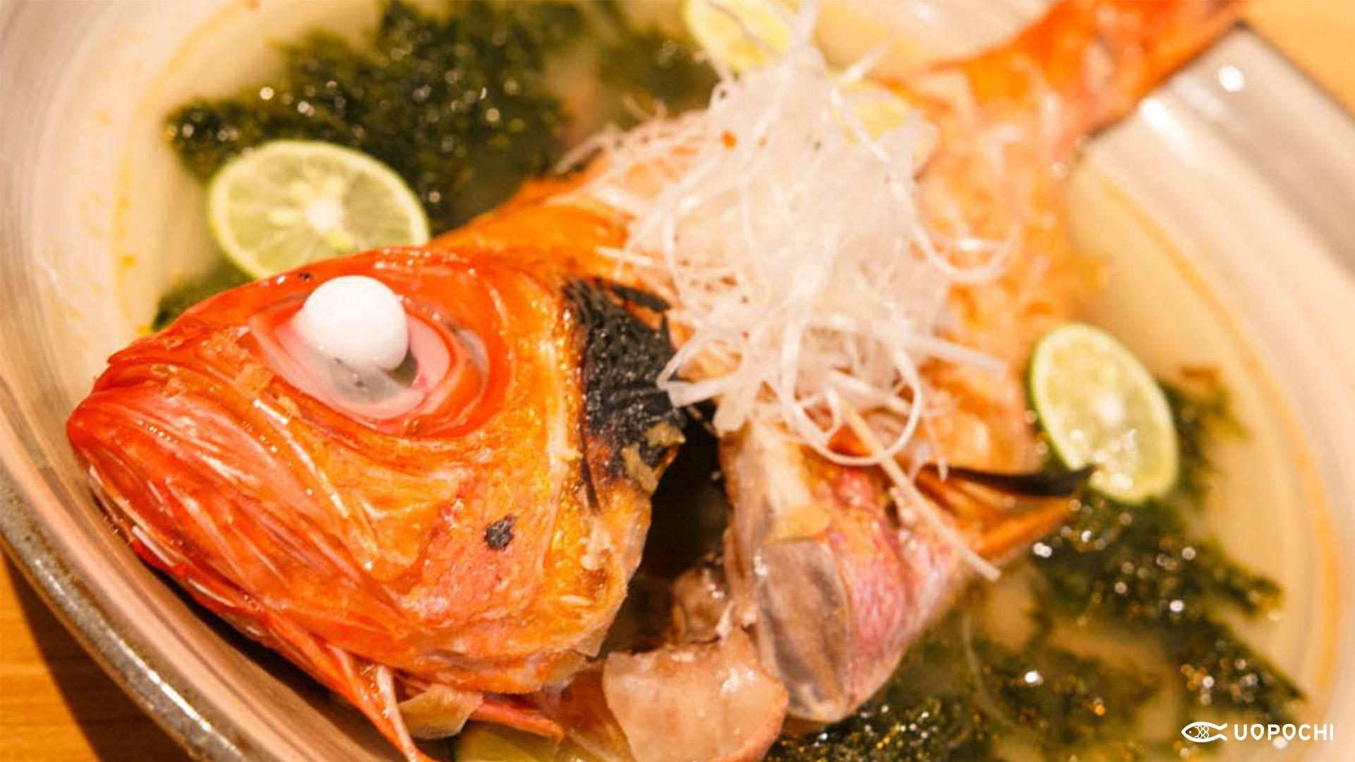 金目鯛の塩煮~酢橘のせ~