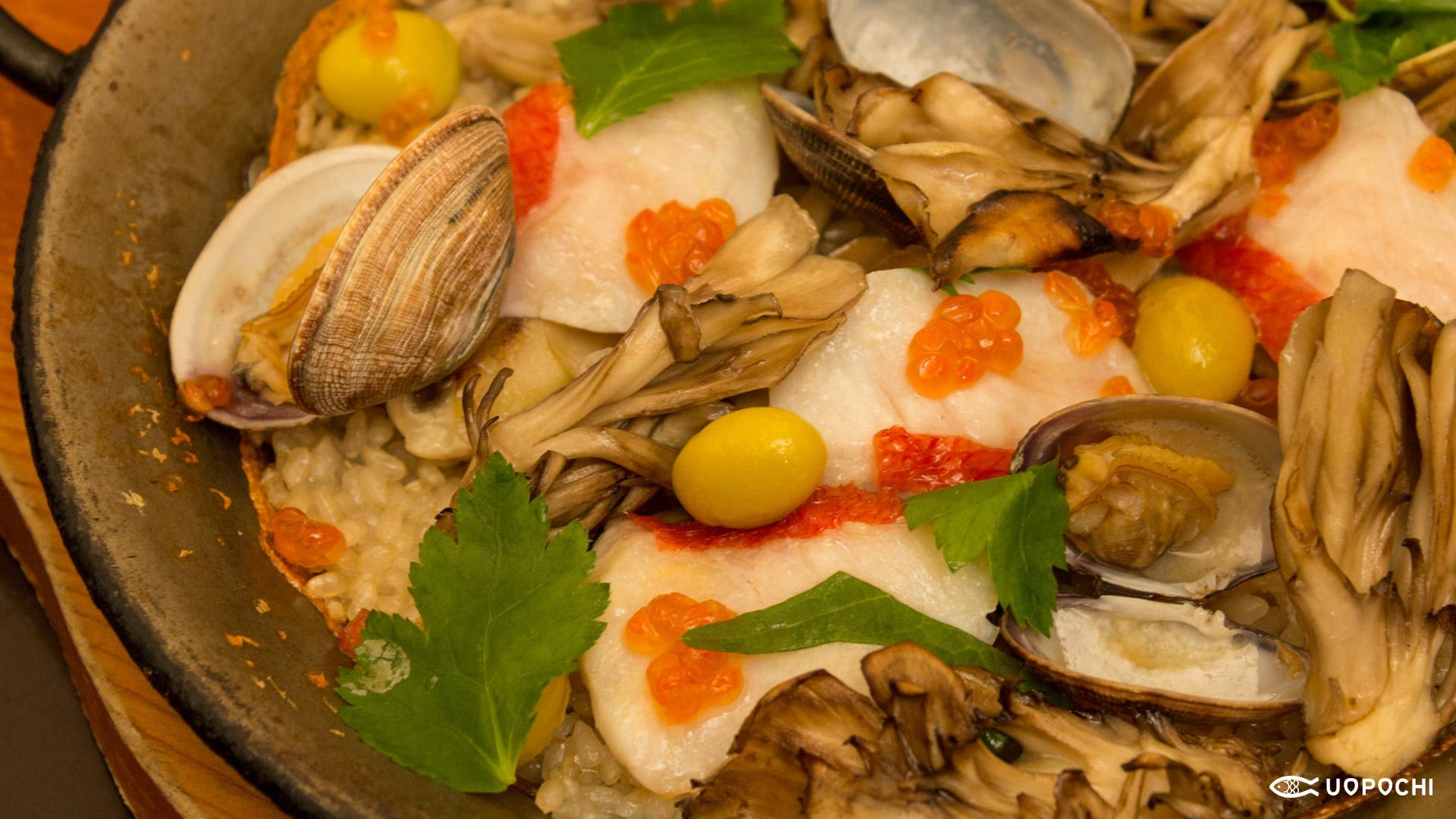 金目鯛と秋の味覚パエーリャ